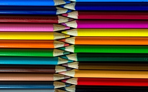 Картинка макро, краски, карандаши, рисование