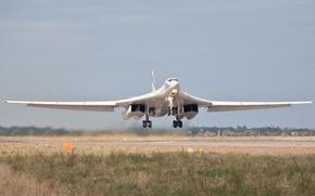 Картинка взлет, стратегический, Ту-160, сверхзвуковой, бомбардировщик-ракетоносец, «Белый лебедь»