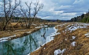 Картинка природа, река, весна