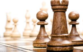 Картинка wood, chess, board, pieces