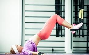 Картинка девушка, поза, фигура, спортивная, упражнение