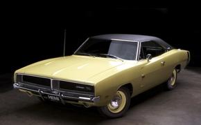 Обои Car, R/T, Dodge Charger, Wallpapers, Додж, Передок, Чарджер, Кар, Обоя, 1969, Musclecar, Мускул, Автомобиль