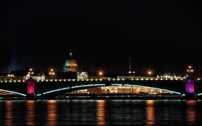 Картинка ночь, город, мосты