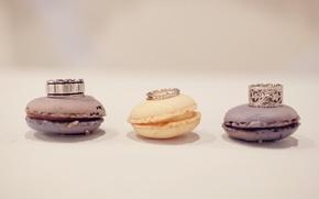 Картинка кольца, macaron, свадаба