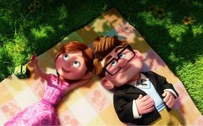 Картинка любовь, вверх, мультфильм, pixar, пара