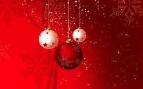 Картинка узор, новый год, рождество, вектор, шарик, украшение, снежинка