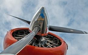 Картинка самолет, винт, пропеллер, Авиация