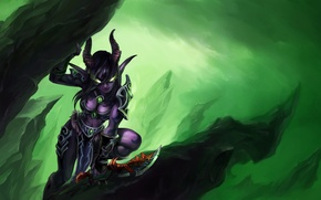 Картинка демон, WoW, World of Warcraft, Legion, охотник на демонов, Demon Hunter