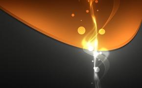 Обои круги, Оранжевый, серый, дизайн