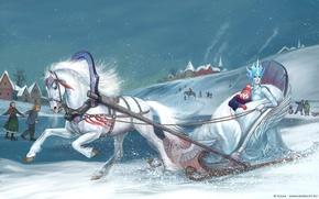 Обои Снежная королева, зима