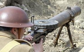 Картинка оружие, войны, солдат, пулемёт, мировой, времён, Lewis, Первой, «Льюис»