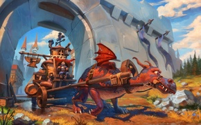 Картинка fantasy, war, dragon
