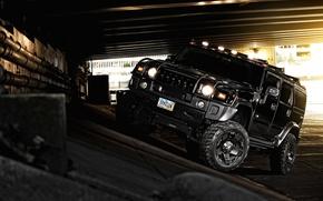 Обои хаммер, off road, чёрный, black, внедорожник, Hummer