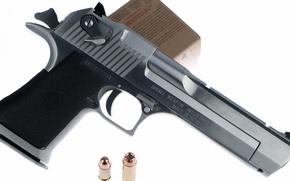 Картинка оружие, патроны, Desert Eagle, пистолет