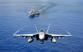 Картинка оружие, авианосец, самолёт