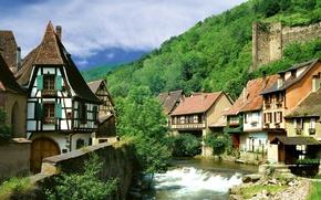 Картинка Франция, деревня, Кайзерсберг