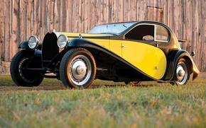 Картинка машина, ретро, Bugatti, Coupe, 1930, Superprofile, Type 46