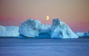 Картинка море, лёд, Good Night