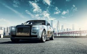 Картинка car, мост, Rolls Royce Ghost
