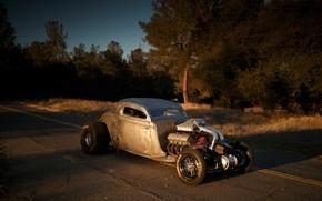 Картинка Ford, Hot Rod, Coupe, Twin Turbo, 1934, Drag Car, Big Block