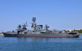 """Картинка корабль, большой, противолодочный, на рейде, Севастополь, """"Керчь"""""""