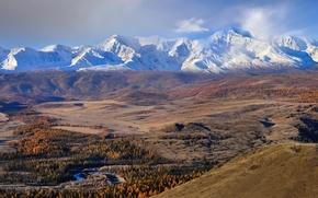 Картинка осень, горы, Алтай