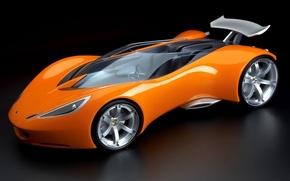 Обои оранжевый, Lotus, родстер, концепт-кар, Hot wheels