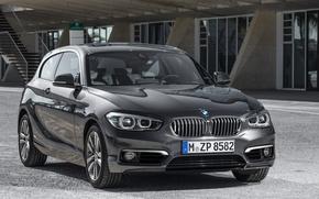 Картинка фото, Черный, BMW, Автомобиль, 2015, Металлик, Urban Line, 120d