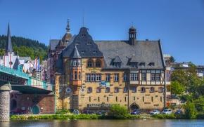 Картинка город, фото, дома, Германия, река Traben-Trarbach