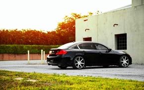 Картинка Infiniti, wheels, black, vossen, Sedan, G37