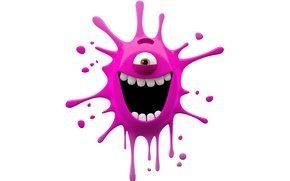 Картинка character, monster, smile, paint, funny, cute