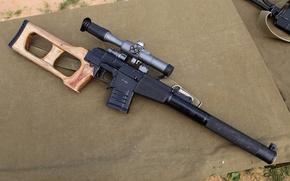 Картинка оружие, винтовка снайперская специальная, винторез, Всс