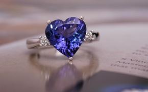 Картинка камень, кольцо, украшение, сапфир