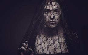 Картинка взгляд, Veil, вдова, траур