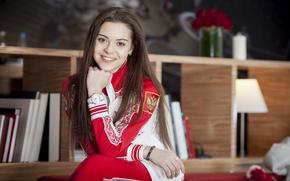 Картинка красавица, спортсменка, чемпионка, Аделина Сотникова