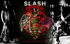 Картинка гитарист, хард-рок, Slash