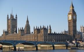 Обои ben, big, мост, london, Лондон, река