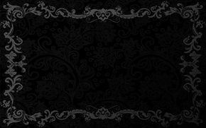 Картинка pattern, ретро, vintage, vector, background, black, texture, dark, орнамент, узор, gradient, винтаж