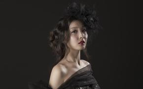 Картинка девушка, портрет, азиатка