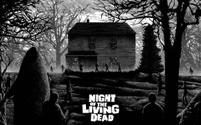 Картинка Night of the living dead, house, zombies