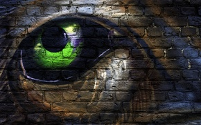 Картинка глаз, стена, рисунок, текстура