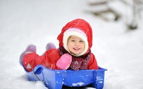 Картинка зима, дети, новый год, ребенок, рождество, девочка, christmas, new year, happy, winter, child, children, little …