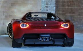 Картинка Concept, огни, вид, стоп, сзади, Ferrari, Sergio