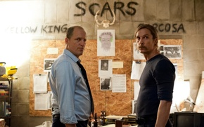 Картинка detective, series, men, crime, Woody Harrelson, True Detective, Matthew McConaughey, detectives