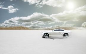 Картинка Bentley, Continental, Пустыня, Белая, Бентли, Car, Sun, White, Disert