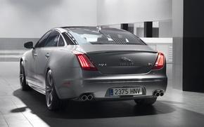 Картинка машина, Jaguar, ягуар, задок, XJR, стоп-огни
