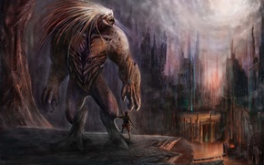Картинка картина, Монстр, гигант, чупакабра, домовой