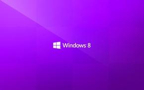 Обои надпись, минимализм, логотип, windows, пурпурный, purple