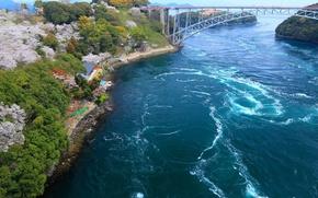 Картинка мост, скалы, бухта