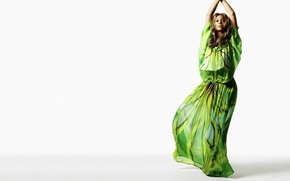 Обои бейонсе, зеленый, певица, музыка, beyonce